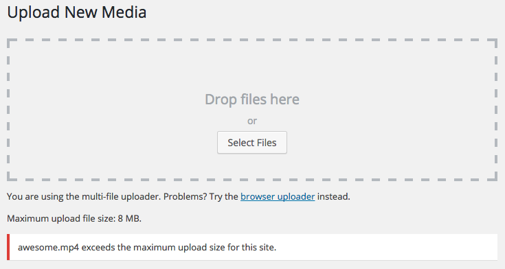 Fix uploaded file exceeds the upload_max_filesize in php.ini in WordPress